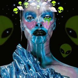 freetoedit alienroyalty crown alien extraterrestrial