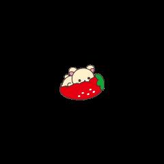 rilakkuma bear stawberry kawaii cute freetoedit
