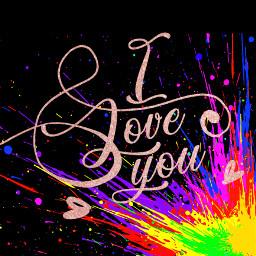 iloveyou love colurfull ä freetoedit