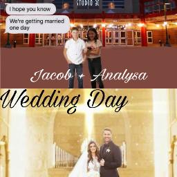 freetoedit justmarried jacob analysa wedding
