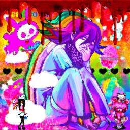 freetoedit scenecore scene rainbow eyestrain