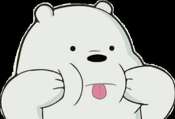 polar bear escandalosos sticker freetoedit