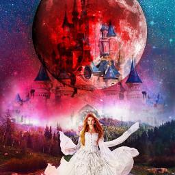 freetoedit castel princess redmoon colorfulsky