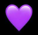 freetoedit purple heart emoji heartemoji