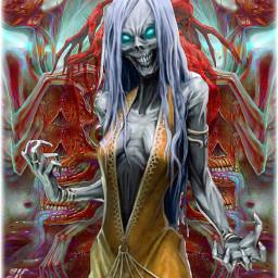 myedit interesting art horrorart zombiegirl