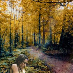 freetoedit forest clipart women