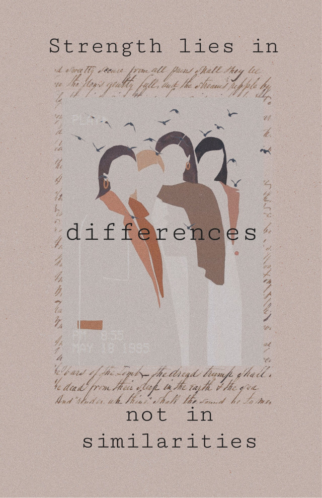 Strength lies in differences not in similarities.🌿💜   #freetoedit #quote #simple #minimalistic #aesthetic #collage #diversity #acceptance #humanity #sharethelove
