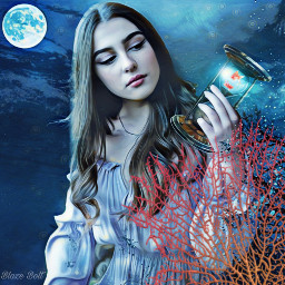 freetoedit hourglass coral underwater moon srcunderwater