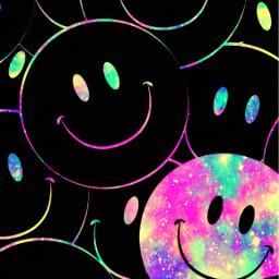 freetoedit glitter sparkle galaxy smileyface