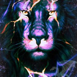 freetoedit remix lion lightening dragon