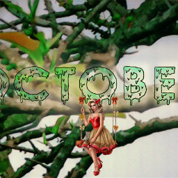 freetoedit greenmagiceffect tree october art ircoctoberishere