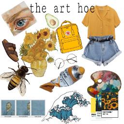 freetoedit arthoe arthoeaesthetic vangogh yellow