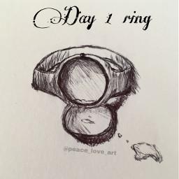 ring inktober inktober2019 inktoberday1 drawing