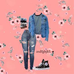 outfit outfitideas denim doubledenim freetoedit