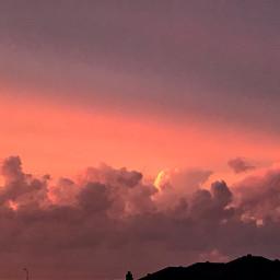 pcafterdark afterdark aestheticsunset sunset clouds