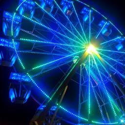 pcafterdark afterdark nightlights colorful ferriswheel freetoedit