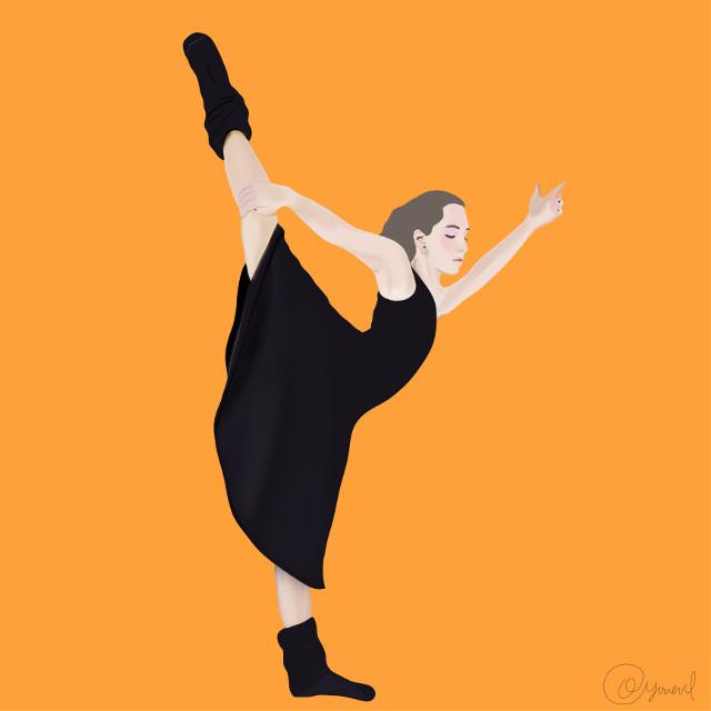 #ballerina#picsartist#mydrawing#illustration#blackdress #freetoedit