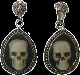 earrings jewelry spooky skeletons goth freetoedit