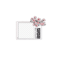 postcard flower overlay
