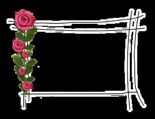 moldura rose rosas🌹 freetoedit rosas