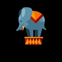 circus elephant freetoedit
