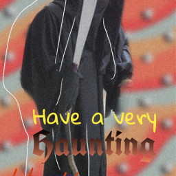 freetoedit haunting halloween greeting text scary