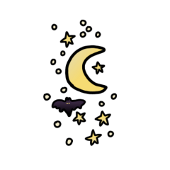 freetoedit moon bat halloween art