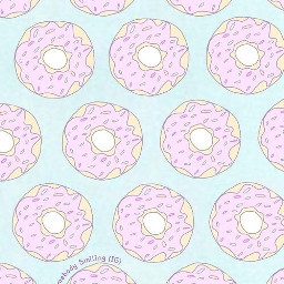 freetoedit donuts cute pink sparkles