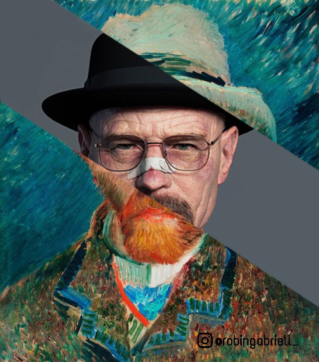I am the danger! ~   #walterwhite  #breakingbad  #vangoghart #vangogh  #collageart #mixedmedia #collageartistsoninstagram #collageartist #collageartwork #art #guhitpinas #artporn #artoninstagram #artistsoninstagram #visualarts