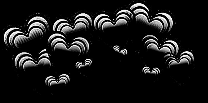 #черный #hearts #heart #сердечки #сердечкинадголовой #сердечки_над_головой #венок