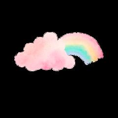 cloud rainbow радуга🌈 радугаааааа freetoedit