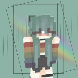 minecraft minecraftskin aesthetic aestheticedit rainbow
