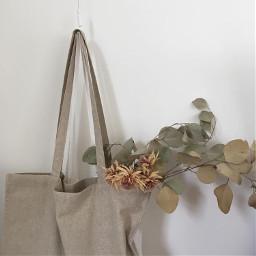 aesthetic beige beigeaesthetic flowers bag