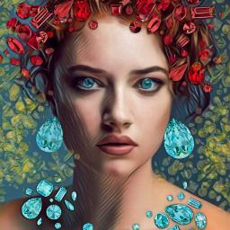freetoedit contestsubmission artisticportrait diamonds magiceffect ecswarovskitodayiam