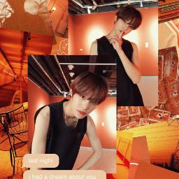 yangyang nct wayv orange aesthetic freetoedit