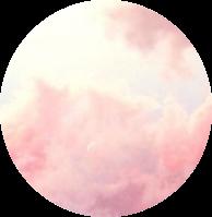 clouds pink aesthetic pinkcircle circle freetoedit
