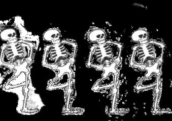 skeleton skeletons dancing halloween spooky freetoedit