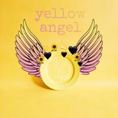 angel yellow yellowangel sticker plate