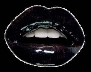 black mouth teeth lips lipstick stickersfreetoedit freetoedit