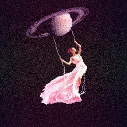 saturn swing space pink girl