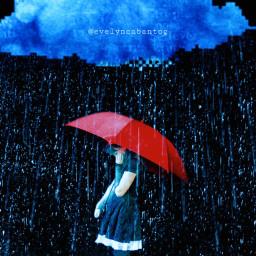 freetoedit sadness lonely alone rain