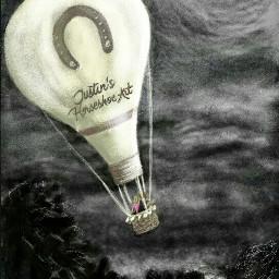 hotairballoon moonlight nightskies freetoedit dchotairballoon