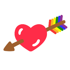 heart arrow pride love support freetoedit