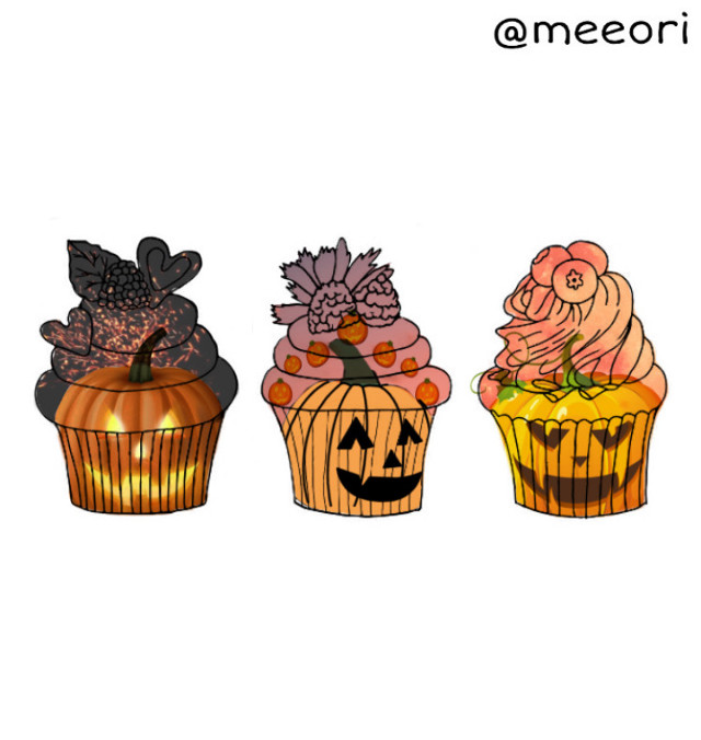#freetoedit #october #halloween #cupcake