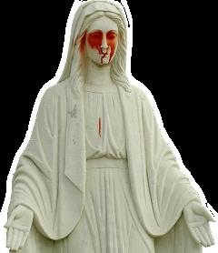 statue cemetery blood terror freetoedit