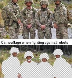 memes robots camouflage