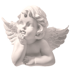 angel white stone statue aesthetic freetoedit