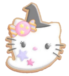ghost hellokitty halloween cookies candy freetoedit