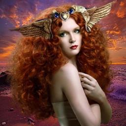 freetoedit fantasyart fantasy doubleexposure goddess