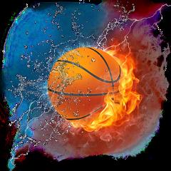 fire water firewater ball basketball freetoedit
